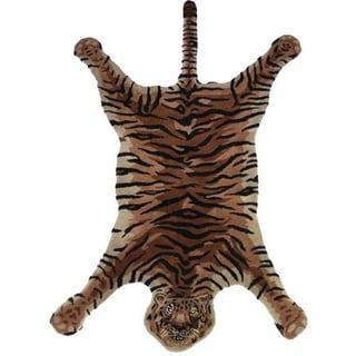 Tiger Safari Hand-Tufted Rug (India)