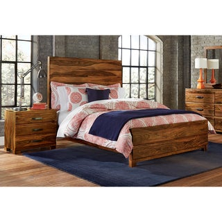 Sheesham solid wood king size panel bed free shipping for Panel beds for sale