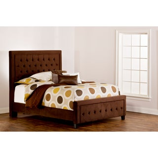Hillsdale Furniture's Kaylie California King Chocolate Upholstered Bed Set