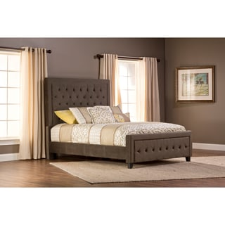 Hillsdale Furniture's Kaylie California King Pewter Upholstered Bed Set