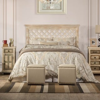 Hillsdale furniture's Kuri Headboard in Distressed White Finish