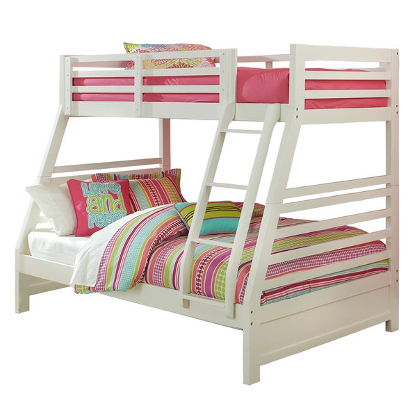 Hillsdale Furniture s White Bailey Twin Full Bunk Bed