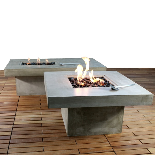 Outdoor Coffee Table Heater: Zement Bauhaus Modern Concrete Patio Coffee Table And Fire