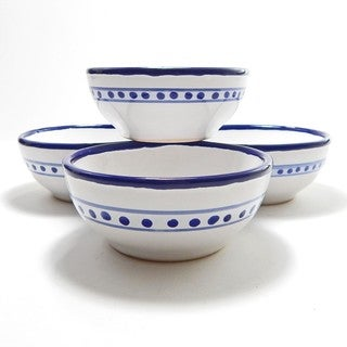 Deep Sauce/Ice Cream Bowls (set of 4) - Azoura Design, by Le Souk Ceramique (Tunisia)