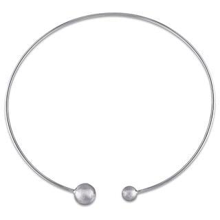 Miadora Italian Sterling Silver Open Collar Necklace