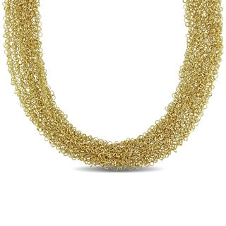 Miadora Signature Collection 14k Yellow Gold Mesh Necklace