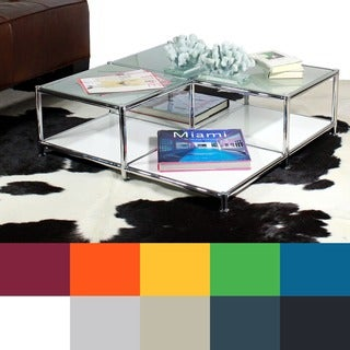 SYSTEM4 Prestigious Elite Steel and Glass Coffee Table or Accent Table