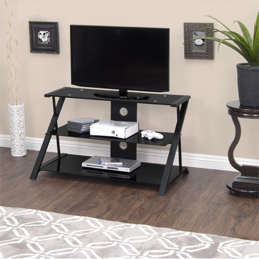 Shop Calico Designs Artesia 38 In Wide High Black Tv Stand Free