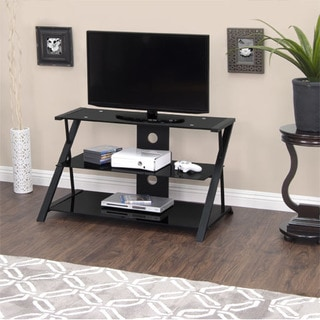 Calico Designs Artesia 38 in. Wide x 23.25 in. Deep x 22 in. High Black TV Stand