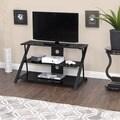 Calico Designs Artesia 38 in. Wide x 23.25 in. Deep x 22 in. High Black TV Stand