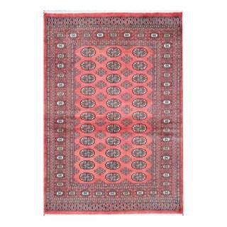 Herat Oriental Pakistani Hand-knotted Bokhara Wool Rug (4'3 x 6'1)