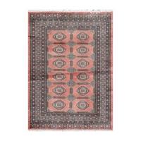 Handmade Herat Oriental Pakistani Bokhara Wool Rug (Pakistan) - 4'2 x 5'7