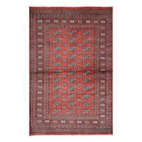 Herat Oriental Pakistani Hand-knotted Bokhara Wool Rug (4' x 6'1)