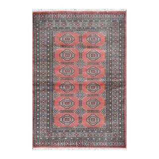 Handmade One-of-a-Kind Bokhara Wool Rug (Pakistan) - 4' x 5'9