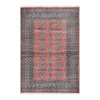 Handmade Herat Oriental Pakistani Bokhara Wool Rug  - 4' x 5'9 (Pakistan)