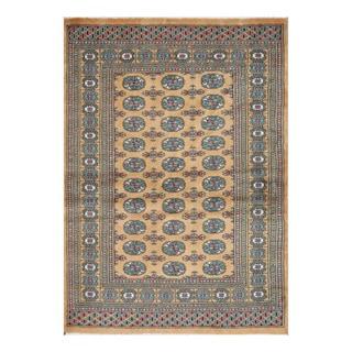 Herat Oriental Pakistani Hand-knotted Bokhara Gold/ Ivory Wool Rug (4'3 x 5'10)