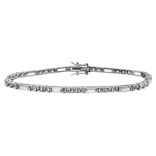 Journee Collection Sterling Silver Cubic Zirconia Tennis Bracelet