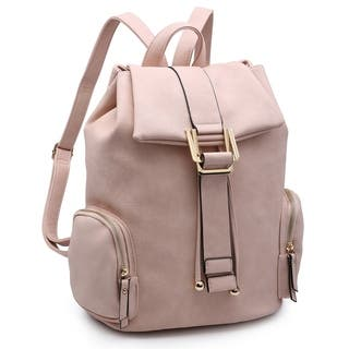 Dasein Faux Leather Drawsrting Accent Backpack with Side Pockets|https://ak1.ostkcdn.com/images/products/10222576/P17343900.jpg?impolicy=medium