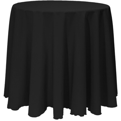 Solid Color 120-inches Round Vibrant Color Tablecloth
