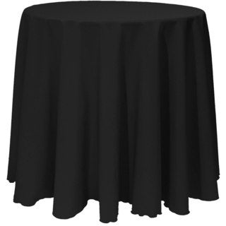 Solid Color 120-inches Round Vibrant Color Tablecloth (3 options available)