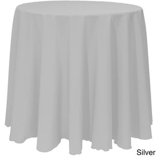 Solid Color 120-inches Round Vibrant Color Tablecloth (Option: SILVER)