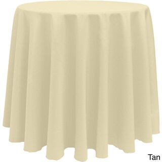 Solid Color 120-inches Round Vibrant Color Tablecloth (Option: TAN)