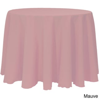 Solid Color 120-inches Round Vibrant Color Tablecloth (Option: MAUVE)