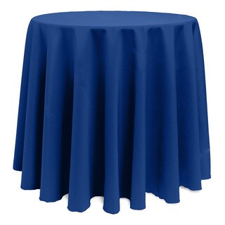 Solid Color 108-inches Round Vibrant Tablecloth (More options available)