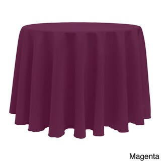 Solid Color 120-inches Round Vibrant Tablecloth (More options available)