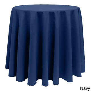 Solid Color 120-inches Round Colorful Tablecloth - 120 (Option: Navy)