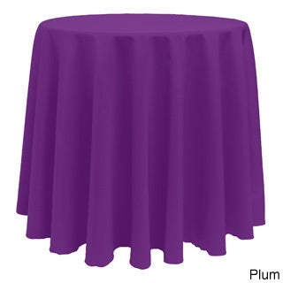 Solid Color 120-inches Round Colorful Tablecloth - 120 (P...