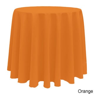 Solid Color 120-inches Round Colorful Tablecloth - 120 (Option: Orange)