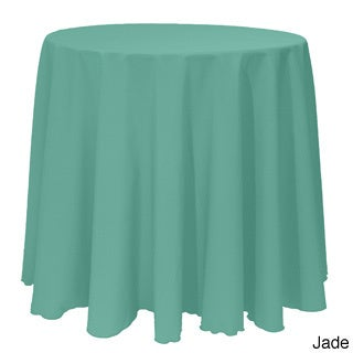 Solid Color 120-inches Round Colorful Tablecloth - 120 (Option: Jade)