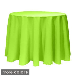 Solid Color 120-inches Round Bright Colorful Tablecloth
