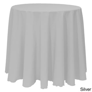 Solid Color 108-inches Round Vibrant Color Tablecloth - 108 (Option: Silver)