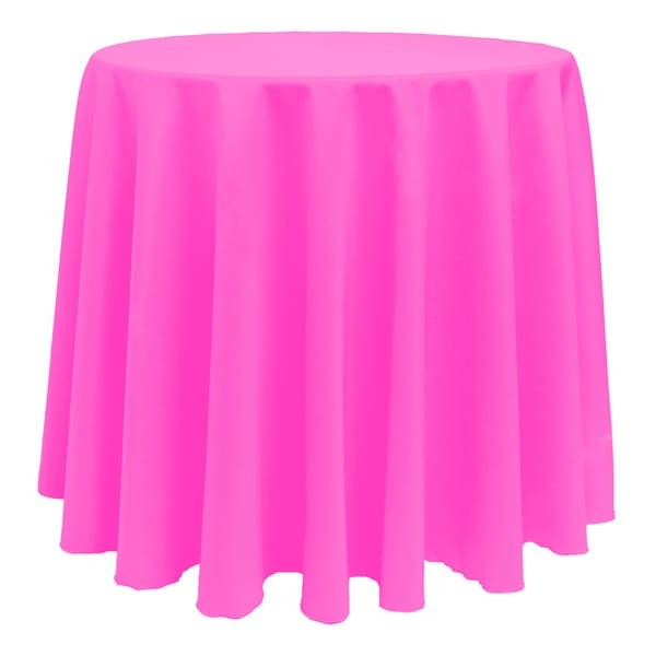 Solid Color 90 Inches Round Colorful Tablecloth   90