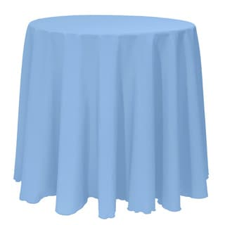 Solid Color 108-inches Round Colorful Tablecloth