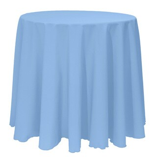 Solid Color 108-inches Round Colorful Tablecloth - 108