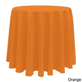 Solid Color 108-inches Round Colorful Tablecloth - 108 (Option: Orange)