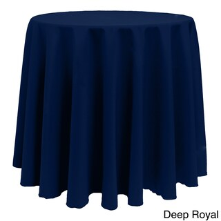 Solid Color 108-inches Round Colorful Tablecloth - 108 (More options available)