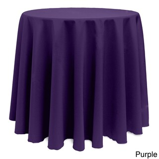 Solid Color 108-inches Round Colorful Tablecloth - 108 (2 options available)