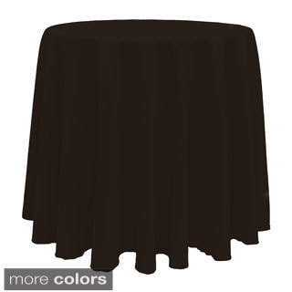 Solid Color 108-inches Round Bright Colorful Tablecloth