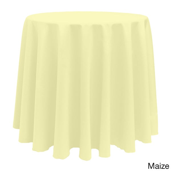 Solid Color 90 Inch Round Bright Color Tablecloth   Free Shipping On Orders  Over $45   Overstock.com   17343839