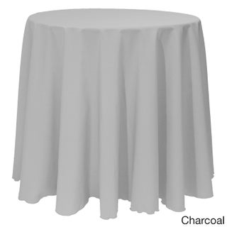 Bright Solid Color 90-inch Round Tablecloth (Option: Charcoal)