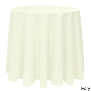 Bright Solid Color 90-inch Round Tablecloth (Option: Ivory)