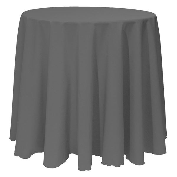 Nice Solid Color 90 Inch Round Bright Color Tablecloth