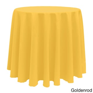 Solid Color 90-inch Round Bright Color Tablecloth (More options available)