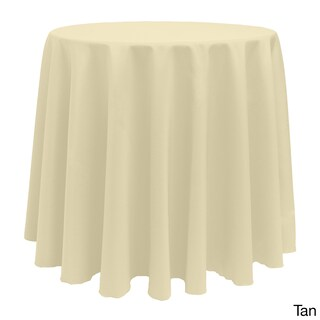 Bright Solid Color 90-inch Round Tablecloth (Option: Tan)