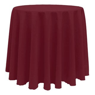 Solid Color 90-inch Round Vibrant Color Tablecloth - 90