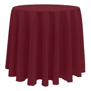 Solid Color 90 Inch Round Vibrant Color Tablecloth   90